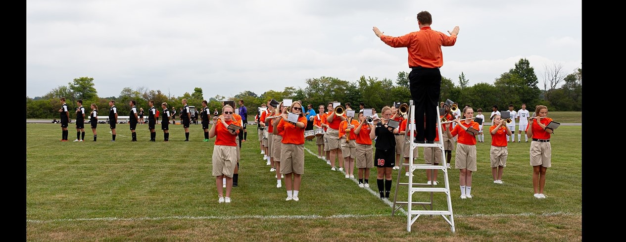Band Performance on Soccer Field