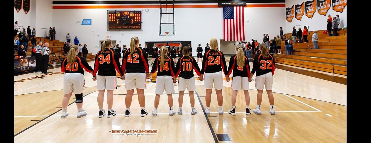 High School Girls Star Spangled Banner Salute