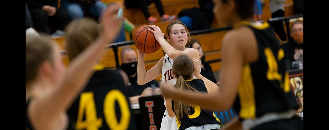 High school girls basketball game