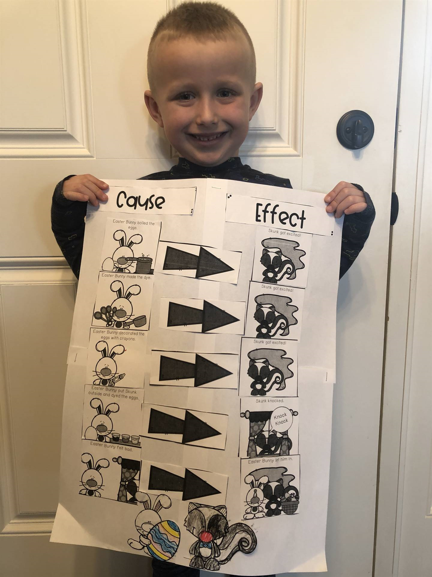 boy cause and effect picture sort