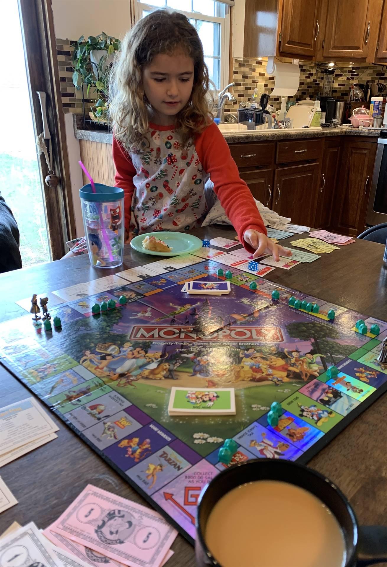 girl playing game
