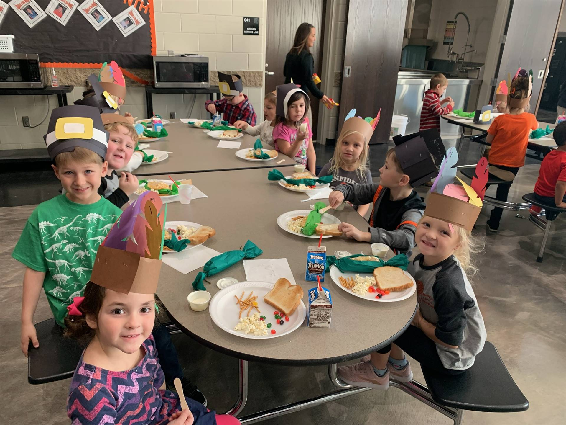 PreK students at Thanksgiving