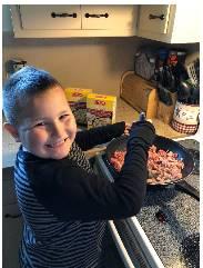 boy cooking