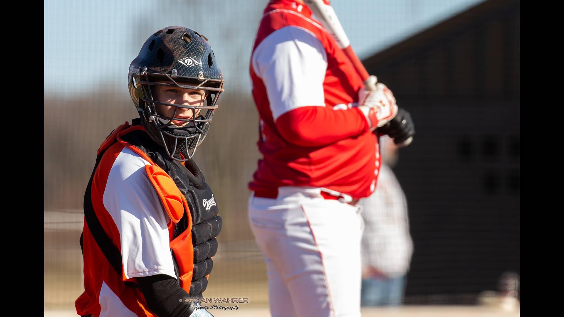 Baseball Catcher and Batter