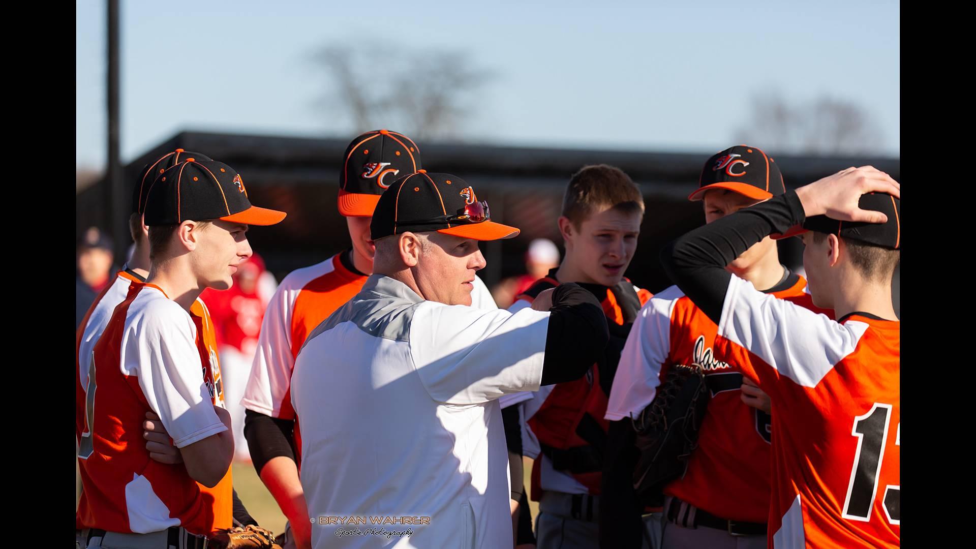 baseball team with coach