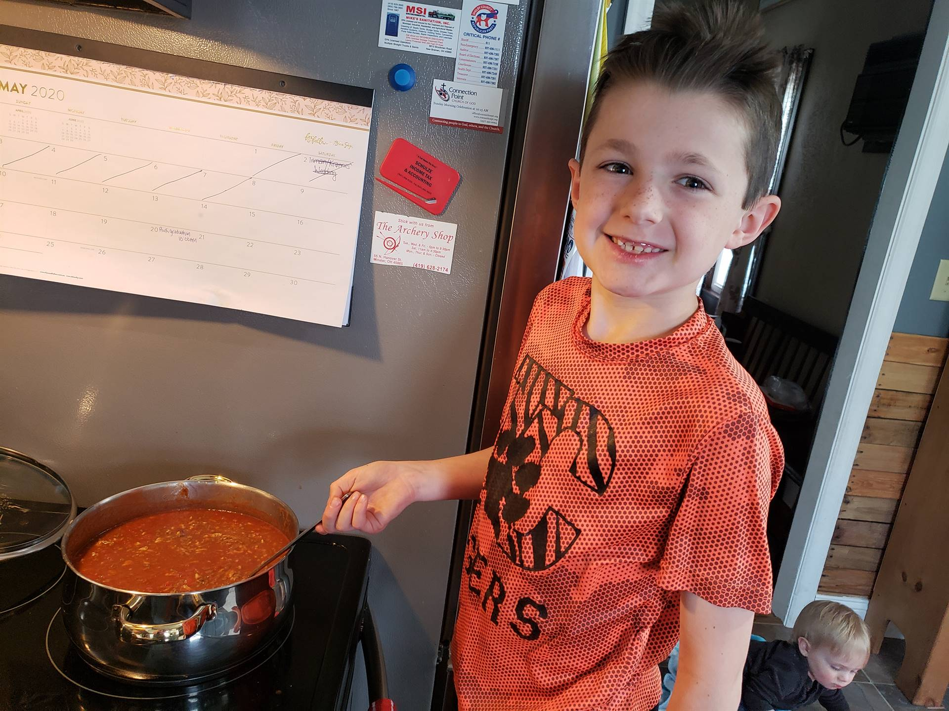 boy with chili