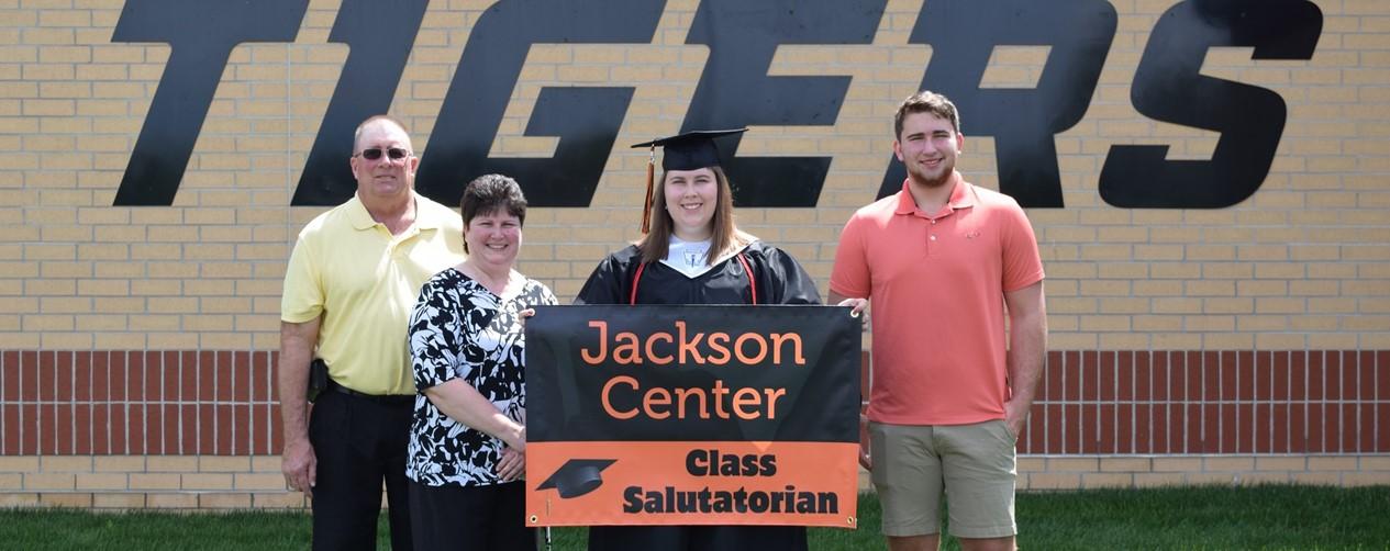 Salutatorian with parents