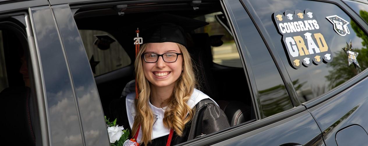 Graduate in parade