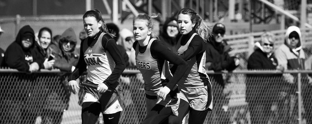 Girls track runners