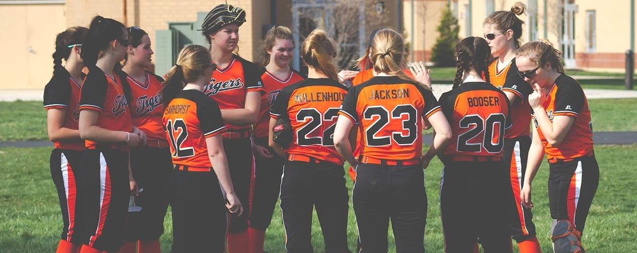 Softball girls team meeting